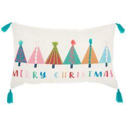 Merry Christmas Trees Decorative Pillow