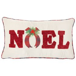Nourison Noel Plaid Decorative Pillow