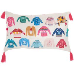 Mina Victory Ugly Christmas Sweater Decorative Pillow