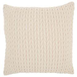 Mina Victory Ripple Braided Decorative Pillow