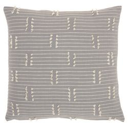 Mina Victory Striped Stitch Decorative Pillow