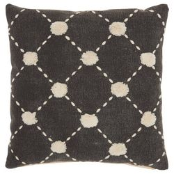 Mina Victory Dotted Tuft Decorative Pillow
