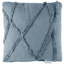 Mina Victory Geo Stripe Tufted Decorative Pillow