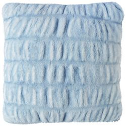 Mina Victory Ruched Faux Fur Decorative Pillow