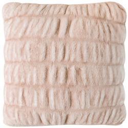 Ruched Faux Fur Decorative Pillow