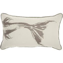 Metallic Fish Decorative Pillow