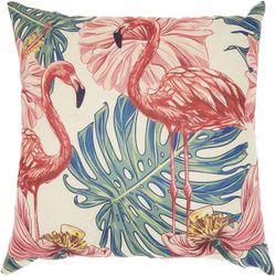 Mina Victory Velvet Flamingo Decorative Pillow