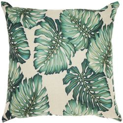 Mina Victory Velvet Palm Leaf Decorative Pillow