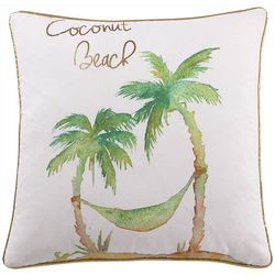 Tropical Coconut Beach Decorative Pillow