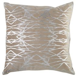 Victoria Classics Square Metallic Diamond Decorative Pillow