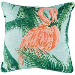 Flamingo Palm Decorative Pillow