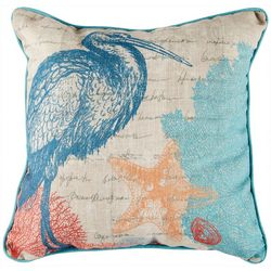 Jordan Manufacturing Heron Decorative Pillow
