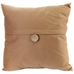 Jordan Manufacturing Faux Suede Button Decorative Pillow