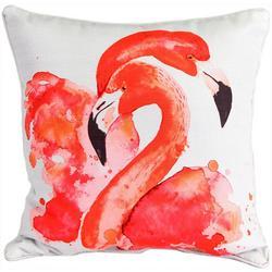 Duo Flamingo Decorative Pillow