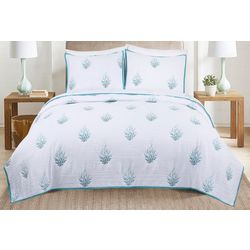 Coastal Home 3-pc. Coral Acres Quilt Set