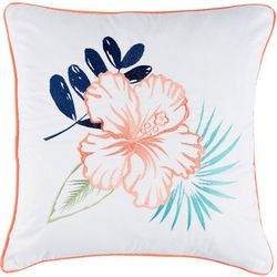Coastal Home Breezy Cove Floral Decorative Pillow
