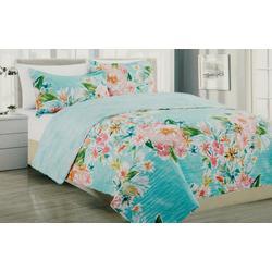 Boundless Floral Print Quilt Set