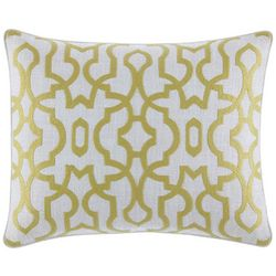 Tommy Bahama Palmiers Embroidered Trellis Decorative Pillow