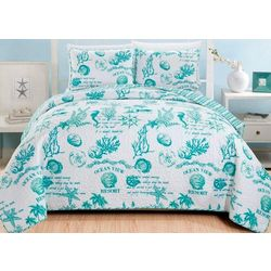 Home Fashions Distributors Catalina Quilt Set