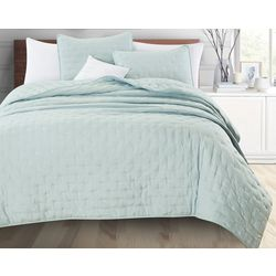 Home Fashions Distributors Athena Dot Quilt Set