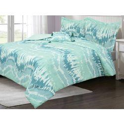 Gingham & Thread Tie Dye Wave Comforter Set