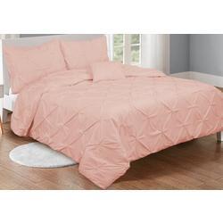 Pintuck Solid Comforter Set