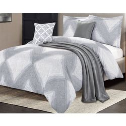 CHD Home Textiles Max Comforter Set With Throw