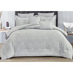 CHD Home Textiles Damask Embroidered Comforter Set