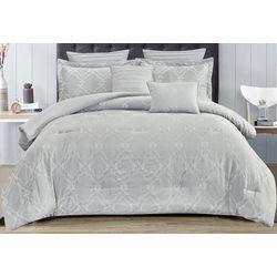 Damask Embroidered Comforter Set