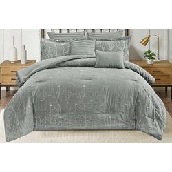 Branch Embroidered Comforter Set