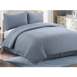 CHD Home Textiles Oxford Stonewash Quilt Set