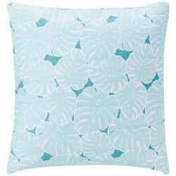 Waters Edge Palm Leaf Decorative Pillow