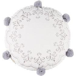 Nina Campbell Sariska Pom Pom Round Decorative Pillow