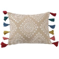 Levtex Home Embroidered Multi Tassel Decorative Pillow