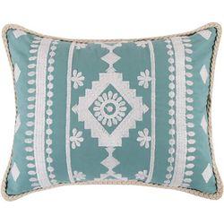 Levtex Home Geo Diamond Embroidered Decorative Pillow