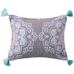 Levtex Home Crewel Medallion Tassel Decorative Pillow