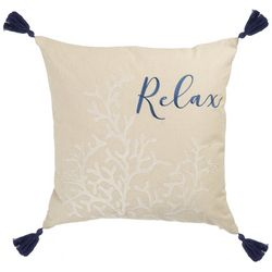 Beach Bungalo Sandy Beach Relax Reef Decorative Pillow