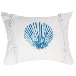 Beach Bungalo Sandy Beach Seashell Rope Decorative Pillow
