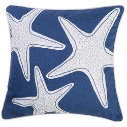 Beach Bungalo Sandy Beach Starfish Decorative Pillow