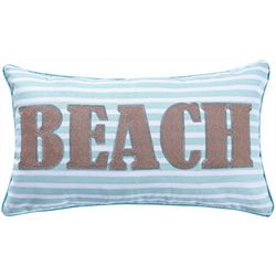 Saltwater Home Beach Stripe Decorative Pillow