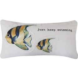 Levtex Home Fish Just Keep Swimming Decorative Pillow