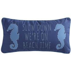 Levtex Home Slow Down We're On Beach Time Decorative Pillow