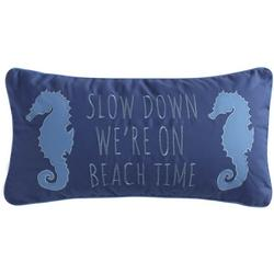 Slow Down We're On Beach Time Decorative Pillow