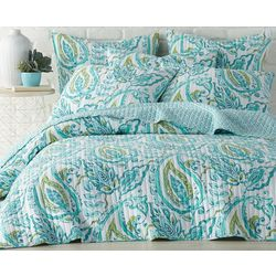 Levtex Home Tamsin Teal Quilt Set