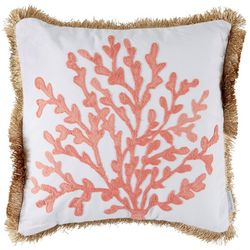 Levtex Home Cape Barren Coral Embroidered Decorative Pillow