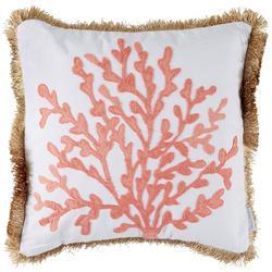 Cape Barren Coral Embroidered Decorative Pillow