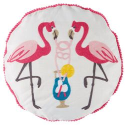 Levtex Home Flamingo Drink Round Decorative Pillow