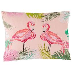 Flamingo Jungle Decorative Pillow