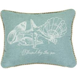 Blessed By The Sea Shell Decorative Pillow