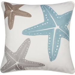 Saltwater Home Starfish Print Decorative Pillow